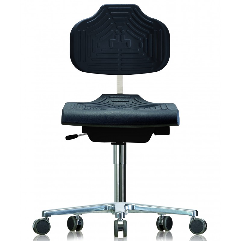 Chair with castors WS1220 E GMP Classic seat/backrest with