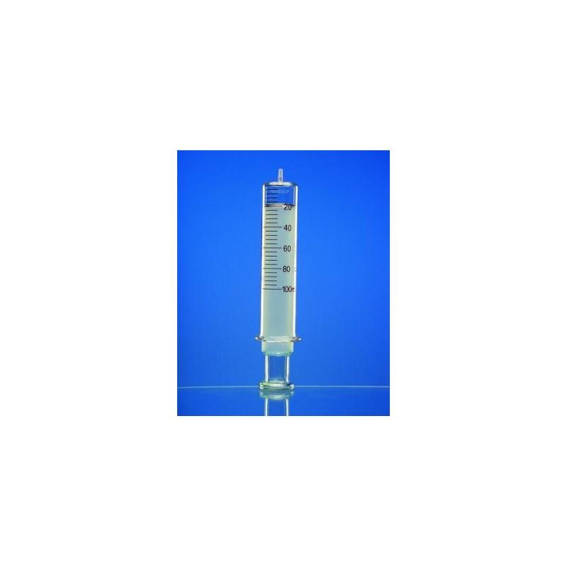 Ganzglasspritze 1 ml: 0,05 Glaskonus Luer braun graduiert