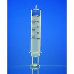 Ganzglasspritze 20 ml: 1 Glaskonus Luer braun graduiert