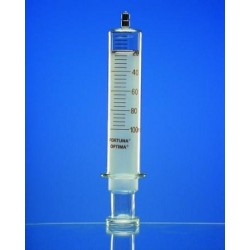Strzykawka ze szkła 3 ml:0,1 końcówka Luer-Lock podziałka