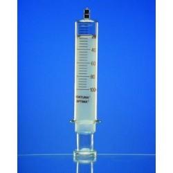 Ganzglasspritze 50 ml: 2 Luer-Lock Konus braun graduiert