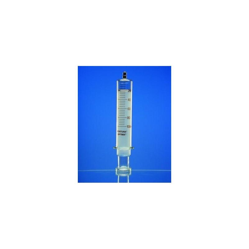 Ganzglasspritze 100 ml: 4 Luer-Lock Konus braun graduiert