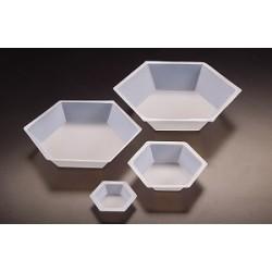 Hexagonal weighing pans PS 200 ml ØtopxØbottomxH 102x76x23 mm