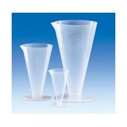 Conical beaker 100 ml PP raised scale wide base pack 10 pcs.