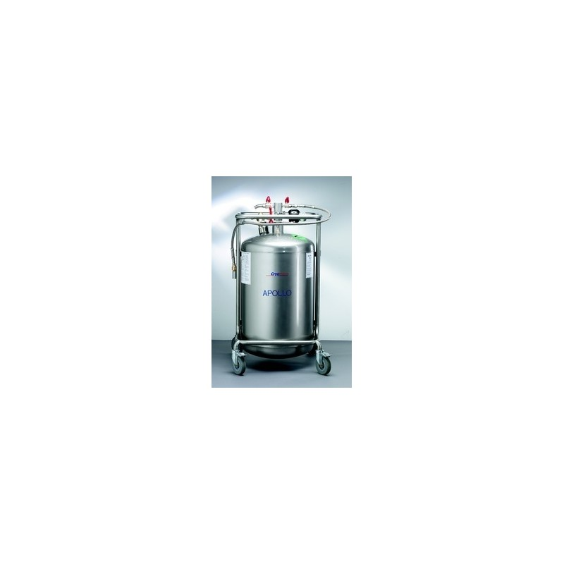 Vaccumisolated stainless steel container for liquid nitrogen