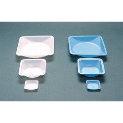 Disposable weighing trays PS 100 ml LxWxH 89x89x25 mm blue pack