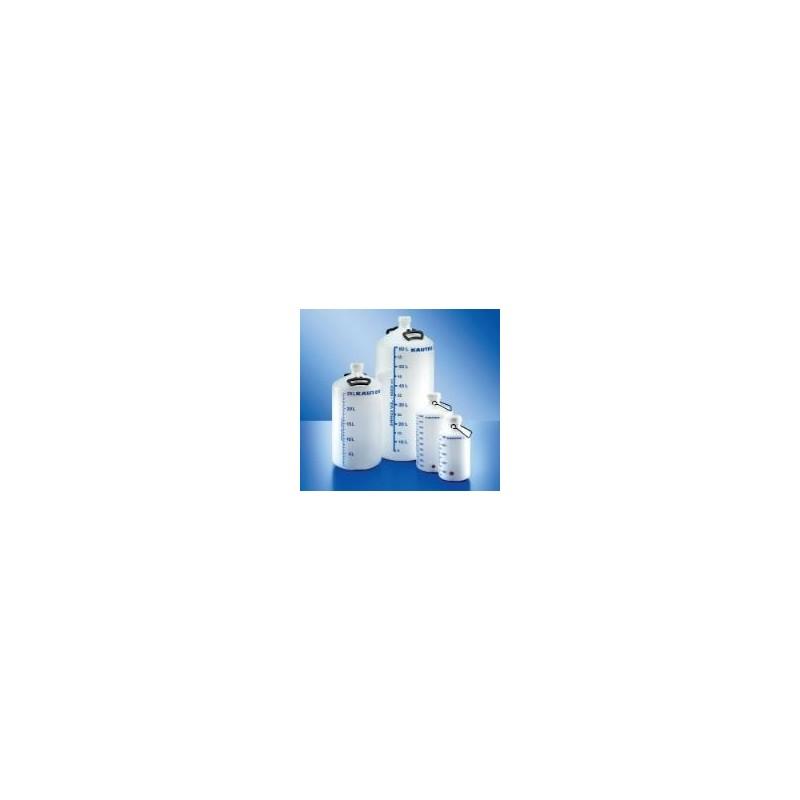 Balon z niebieską skalą litrową pałąkiem i zakrętką z
