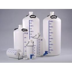 Vorratsflasche mit Hahnanschluss HD-PE blaue Literskala