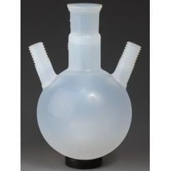 Dreihals-Rundkolben 100 ml PFA NS29/32 zwei Seitenhälse GL18