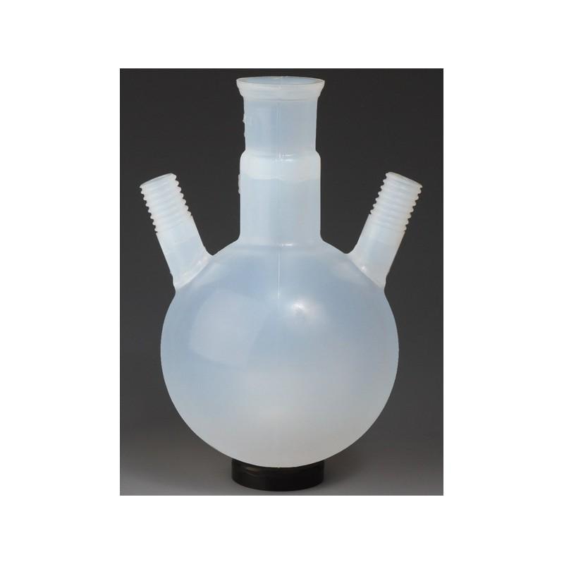 Round bottom flask with three necks 500 PFA SJ29/32 2 side