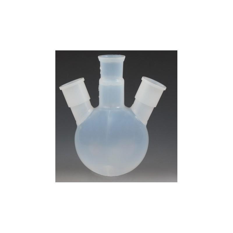 Three ground joint neck round bottom flask 250 ml PFA