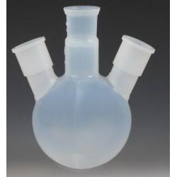 Three ground joint neck round bottom flask 500 ml PFA
