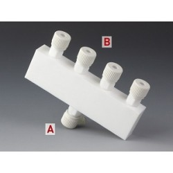 Distributor PTFE 1x Ø 4 mm 4x Ø 4 mm