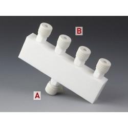 Distributor PTFE 1x Ø 6 mm 4x Ø 6 mm