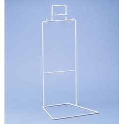 Urine bag stand wire Polyamide white LxWxH 230 x 140 x 585 mm