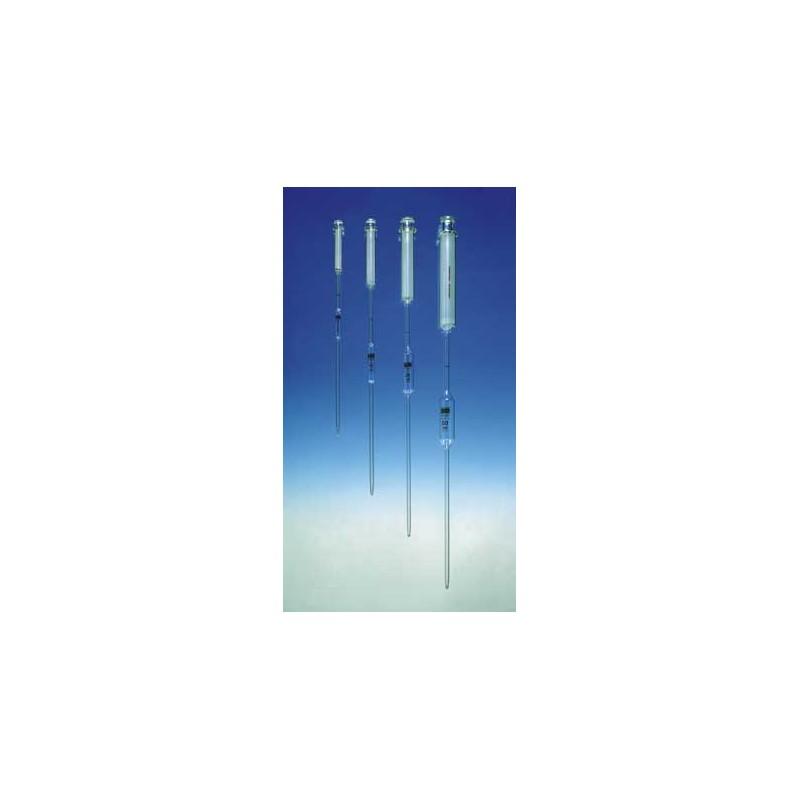 Saugkolben-Vollpipette 1 ml AR-Glas 1 Marke braun graduiert