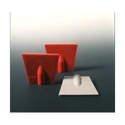 Wischer Spatenform Naturkautschuk rot 5 mm Bohrung für Stab VE