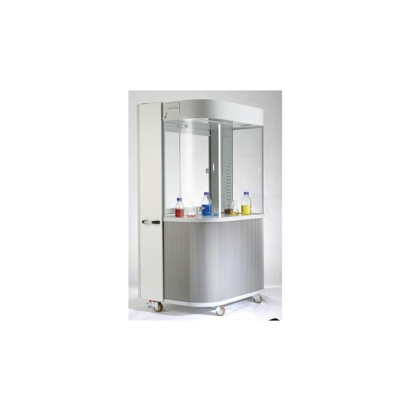 Demonstrationsabzug fahrbar BxTxH 1200x900x1956 2 Steckdosen