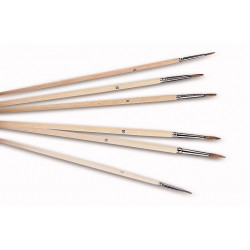 Brushes set made of bovine hair sizes 2 to 12 pack 6 pcs.