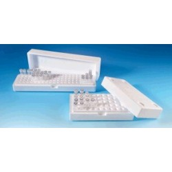 Foamed Polystyrene box with lid LxBxH 210x110x71 50 places for
