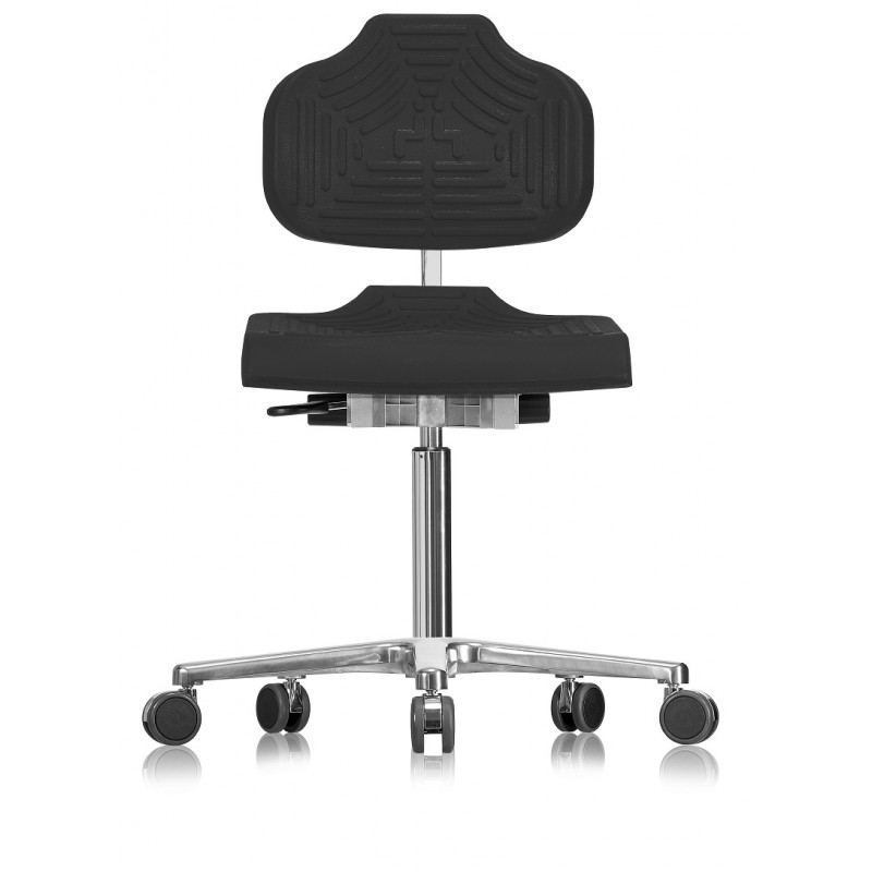 Chair with castors Classic WS1220 E seat/backrest with Soft-PU