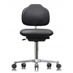 Krzesło na kółkach WS1320 KL GMP Classic siedzisko/oparcie ze