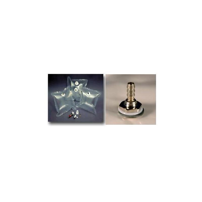 Gasprobenbeutel 3L Tedlar natur 25x25 cm Ni-Messing Ventil VE