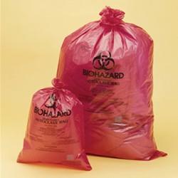 Worek na odpady 640x890 mm 0,03 mm PP Biohazard autoklawowalnyW
