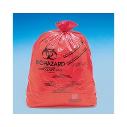 Disposable bag Biohazard 360x480 mm autoclavable with Indikator
