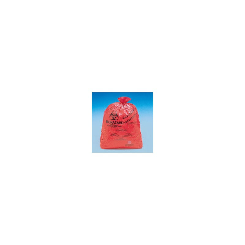 Disposable bag Biohazard 480x580 mm autoclavable with Indikator