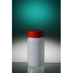 Butelka okrągła PE-HD 50 ml zakrętka z uszczelką zintegrowaną