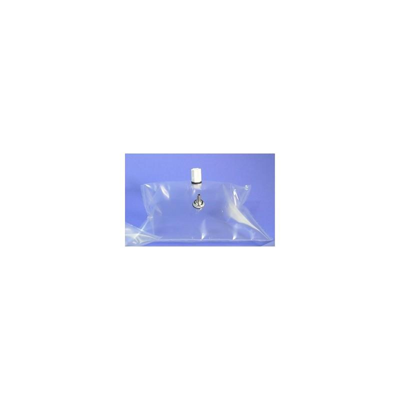 Gasprobenbeutel 1L Tedlar natur 18x18 cm Ni-Messing Ventil + PP