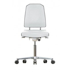 Chair with castors Klimastar WS9220 seat/backrest with Soft-PU