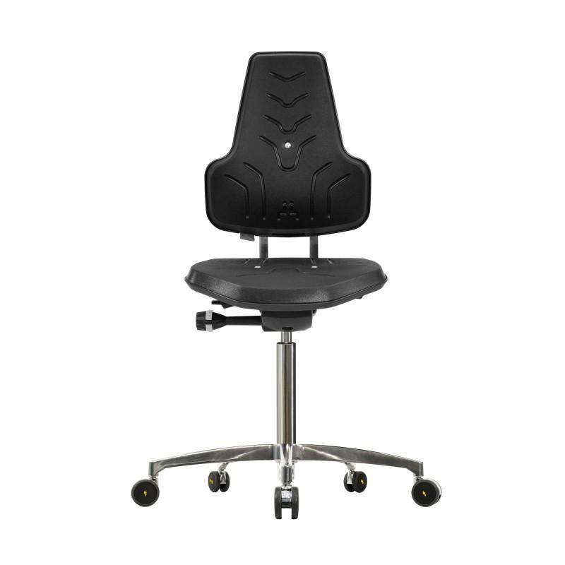 Drehstuhl mit Rollen Werkstar WS 8220 Sitz und Lehne PUR schwarz