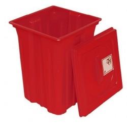Pojemnik na odpady zakaźne i cytostatyczne 50 L BAM biały op.