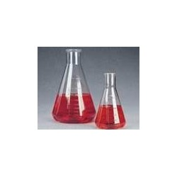 Erlenmeyer flask 2000 ml PC baffled pack 2 pcs.