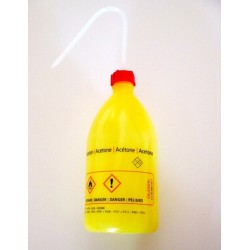 "Safety was bottle ""Aceton"" 1000 ml PE-LD narrow mouth yellow"