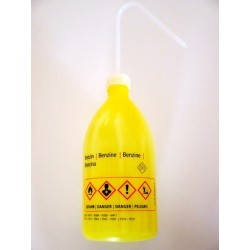 "Safety was bottle ""Benzin"" 1000 ml PE-LD narrow mouth yellow"