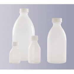 Butelka wąskoszyjna PP 100 ml bez zakrętki GL 18 autoklawowalna