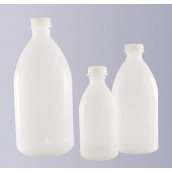 Narrow mouth bottle PP 1000 ml without cap GL28 autoclavable