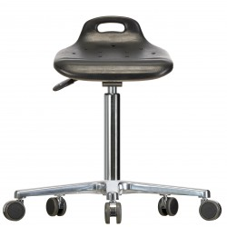Drehhocker WS 4020 ESD Classic PUR-Sitz Fuß und Rollen Höhe