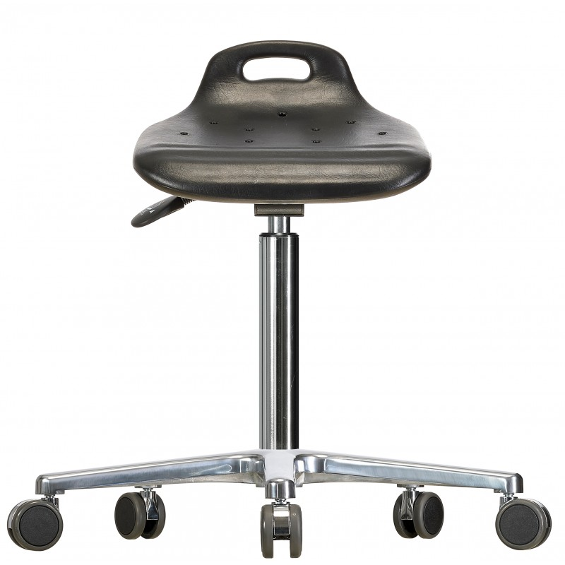 Rotary stool with castors WS4020 ESD Classic seat with Soft-PU