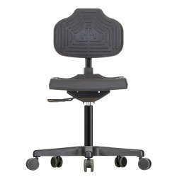Chair with castors Econoline WS2220 seat/backrest with Soft-PU