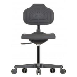 Krzesło na kółkach Econoline WS2220 siedzisko/oparcie z Soft-PU