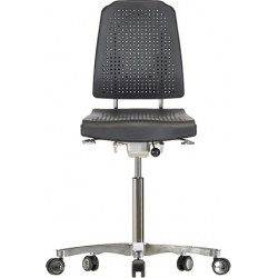 Chair with castors WS9211.20 ESD seat/backrest with Soft-PU