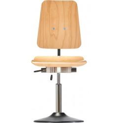 Drehstuhl Extrabreit mit Tellerfuß Ø 430 mm PU-Kante Classic WS