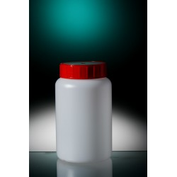 Butelka okrągła PE-HD 500 ml nakrętka z uszczelką zintegrowaną