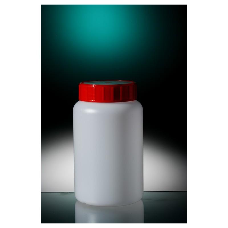 Round bottle narrow neck PE-HD 500 ml screw cap with wad