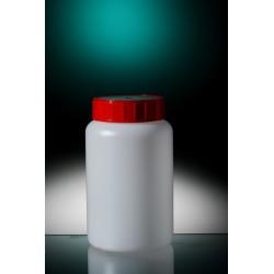 Rundflasche weithals PE-HD 500 ml Verschluss mit Schaumeinlage