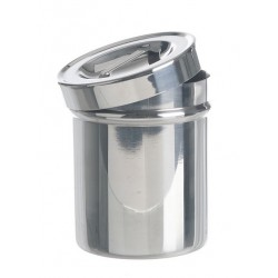 Dressing jar with lid stainless steel 18/10 Ø 124x165 mm
